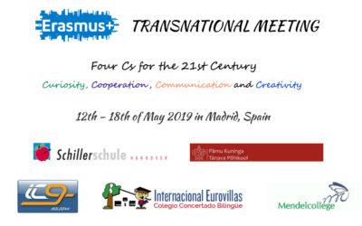 ERASMUS + Meeting, 12 – 18 de mayo en el CIE