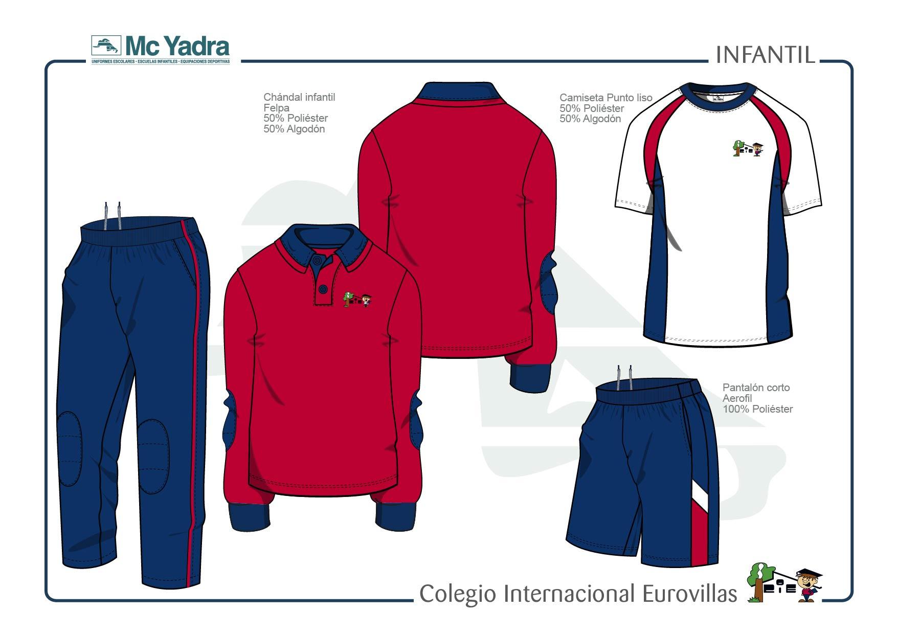 uniforme educación infantil colegio eurovillas