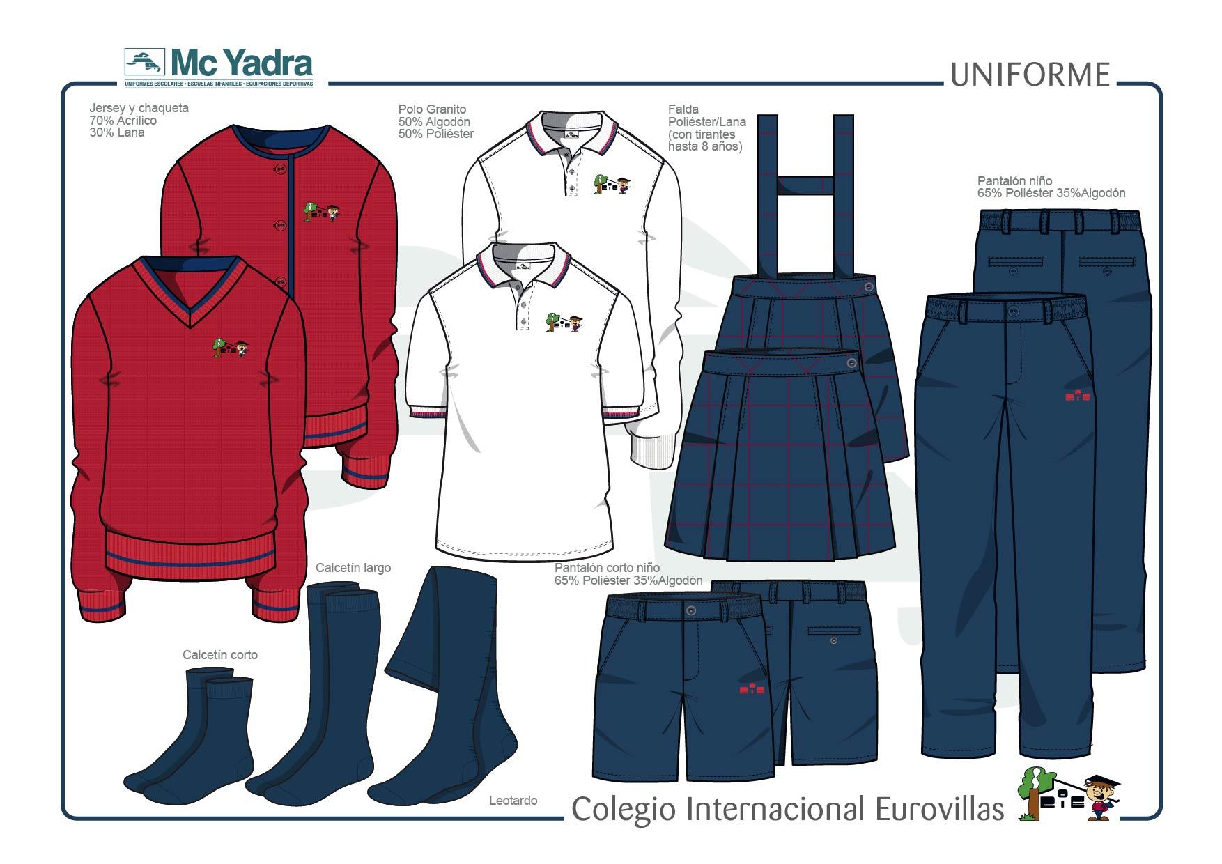 uniforme educación primaria y secundaria colegio eurovillas